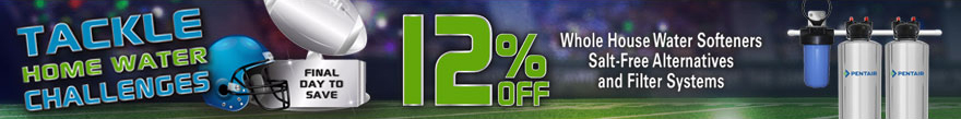Tackle Home Water Challenges - save 12% off POE products - final day