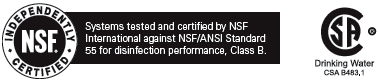 NSF 55 Certified Class B UV Disinfection Systems by Trojan